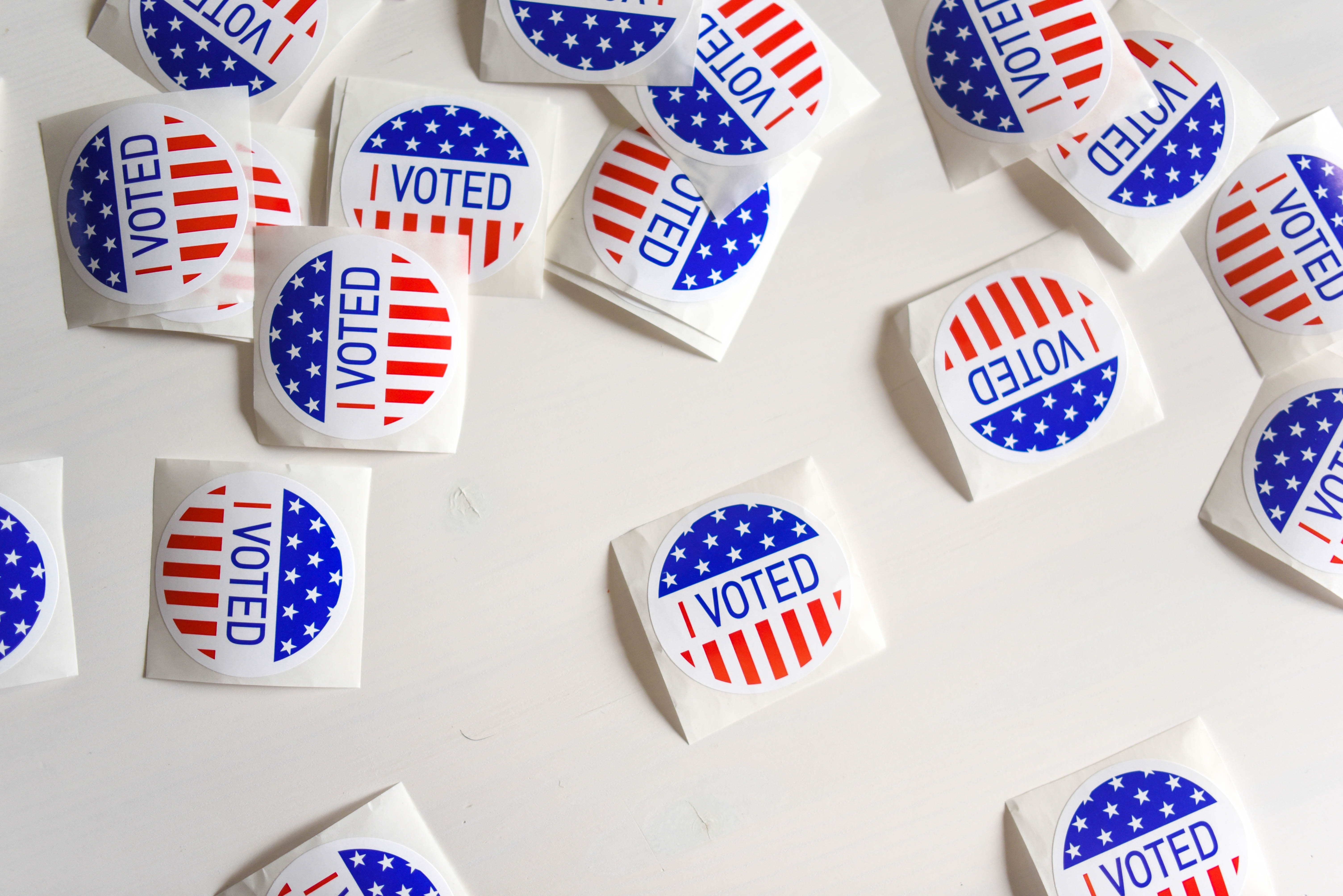 US election stickers